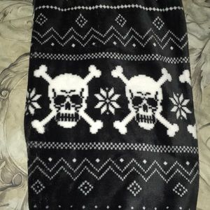 Other - Goth Winter Throw blanket *FIRM PRICE*